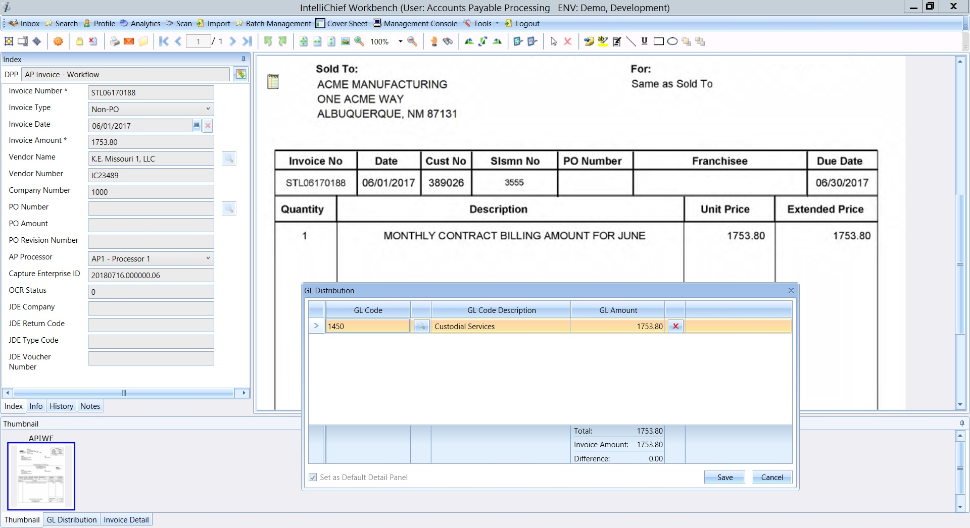 Software for Electronic Invoice Management